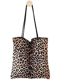 Bolso de Mujer con Estampado de Leopardo, Bolso de Hombro, Bolso de Mano para