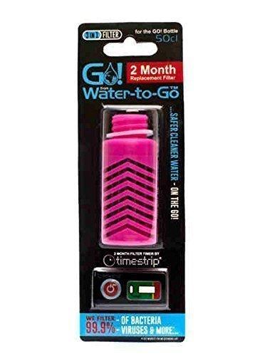 Ersatz Patrone Wasser (Water to Go - 3 In 1 Filter Instant Außen Wasser Hydration Filterung Ersatz Patrone - Rosa)