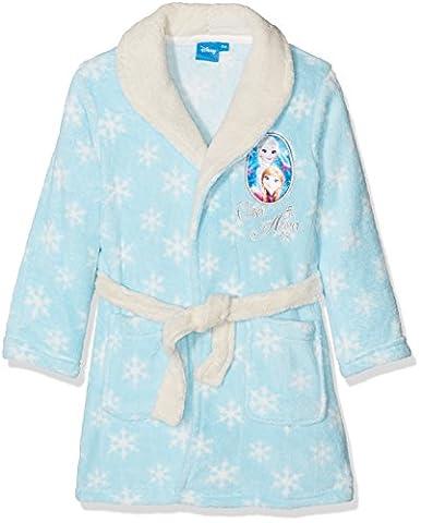 Disney Frozen Die Eiskönigin Bademantel - Morgenmantel mit Kapuze in verschiedenen Farben & Größen, Blau, 4 Jahre