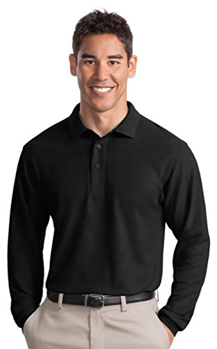 Port Authority Herren Groß und hoch Pique Polo Shirt Schwarz