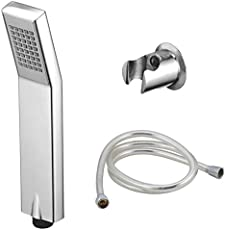KAMAL Kubix Plastic Hand Shower with Shower Tube and Wall Hook