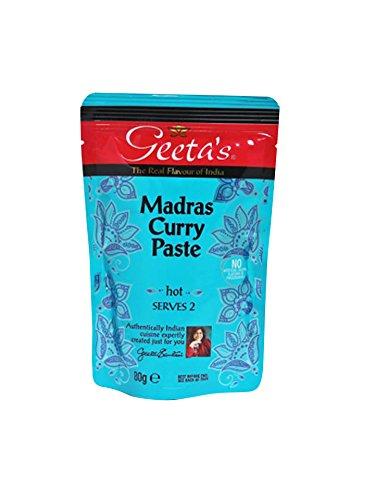 """Geeta´s Madras """"hot"""" Curry Paste 80g"""