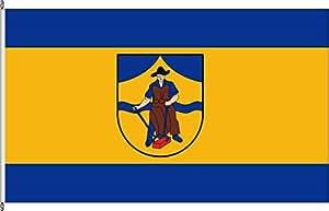 Königsbanner Tischfähnchen Geisweid - Tischflaggenständer aus Holz