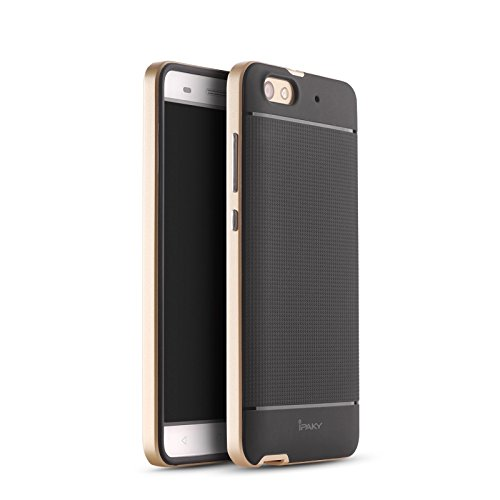 iPaky Hybrid Ultra Thin Shockproof Back + Bumper Case Cover for Honor 4X - Gold