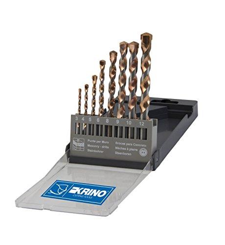 Krino 03029205Spitzen Top für Wand, Set 8Stück, Stahl, 3bis 12mm (Spitzen-top Spanische)