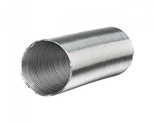 Bad-heizung Vent (Lüftungsschlauch aus Aluminium mit Stahldraht Flexschlauch Flexrohr ORIGINAL Vents ALUVENT 2,5 m Ø 100 mm)