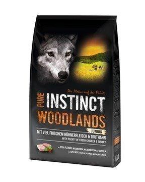 PURE INSTINCT Junior Hundefutter 8 kg getreidefrei Woodlands Junior mit Huhn & Truthahn (getreidefrei) - 8kg