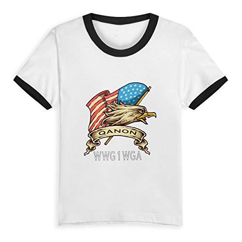 Queen Elena QAnon T-Shirt, für Jungen, Bedruckt, Comic, 2-6 Jahre, für Kinder, Jungen, Mädchen, modisch, Kleidung, Baumwolle, Kontrast Gr. 2 Jahre, schwarz (Lily Green Lime)