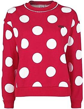 Vans Disney Minnie Boxy Sudadera Mujer Rojo