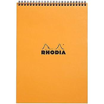 Rhodia - Bloc Spirale 80 Feuilles Détachables - Ligné - Format A4 (21 x 29.7 cm) - Orange