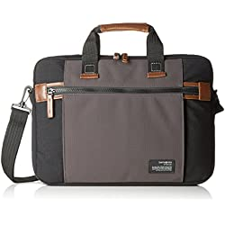 "Samsonite Sideways Laptop Bag 15.6"" Bolso Bandolera, 10.5 Litros, Color Negro/Gris"