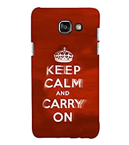 EPICCASE Move on case Mobile Back Case Cover For Samsung Galaxy A5 (Designer Case)