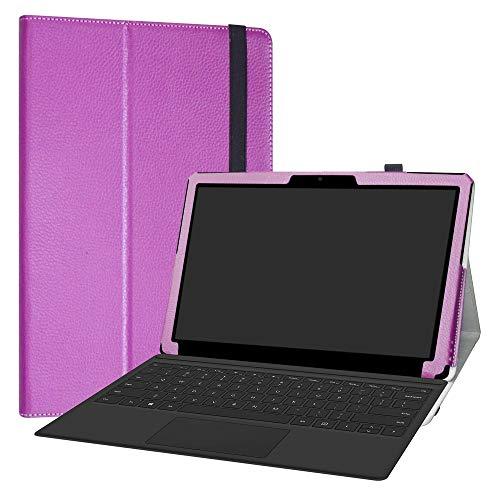Labanema MEDION AKOYA P3403 Hülle, Slim Fit Folio PU Leder dünne Kunstleder Schutzhülle Cover Schale Etui Tasche für MEDION AKOYA P3403 (12,5 Zoll) Notebook - Violett