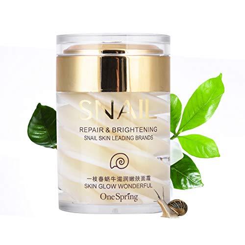 Snail Face Cream Natürliche Sekrete Schleim Extrakt Gesichts Serum Gel für Anti Aging Feuchtigkeitsspendende Falten entfernen reduzieren Sagging Lifting und straffen Hautpflege Lotion -