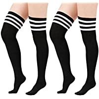 Zando da donna elasticizzato sopra il ginocchio Alta Calze Plus Size autoreggenti