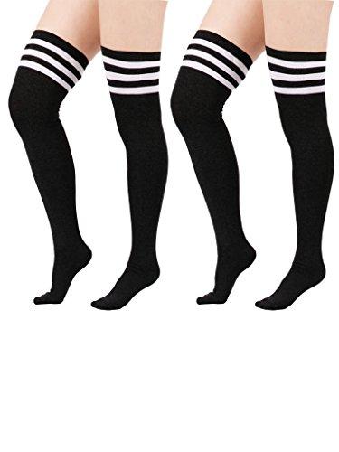 zando-da-donna-elasticizzato-sopra-il-ginocchio-alta-calze-plus-size-autoreggenti-2-pairs-black-w-wh