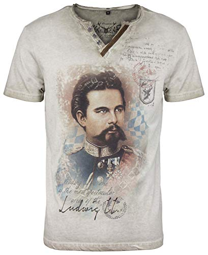 Hangowear Herren Trachten-T-Shirt Almont beige, Gr.XL Herren