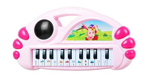 yyyff Musique Jouets pour Enfants éducation précoce 0-1-3 Ans bébé Jouets éducatifs Fille bébé Piano électronique Jouet Piano Cadeau Princesse Poudre