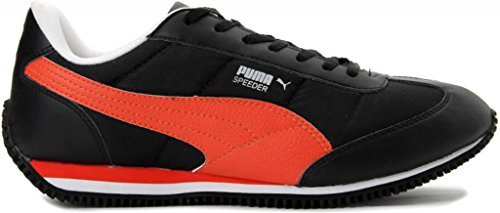Puma Men's Speeder Tetron II Ind. Black, Orange and White Casual Sneakers - 6 UK/India (39 EU)  available at amazon for Rs.1999