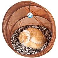 POPETPOP Juguetes Plegables portatales de Nido de túnel de Gato para Gatos, Conejos y Otras Mascotas pequeñas