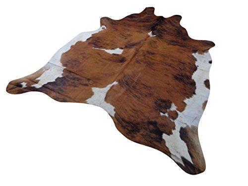 Tapis Peau De Vache Luxe - Exotique (Bringé) - 177 cm x 176 cm Déco Tapis Intérieur de Narbonne Leather Co