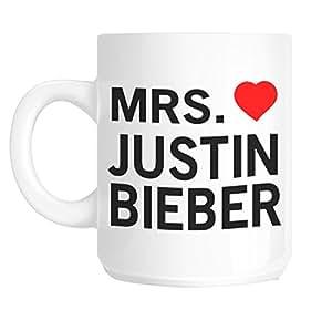 "Acen ""Mrs Justin Bieber"" fantaisie Mug en céramique, blanc, 311,8gram"