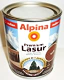 ALPINA Premium Lasur, 750 ml, Holz Dickschichtlasur außen, Nussbaum