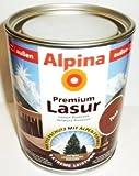 ALPINA Premium Lasur, 750 ml, Holz Dickschichtlasur außen, Mahagoni