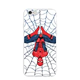 Coque pour iPhone 6 iPhone 6S - Style Spider Man PC Slim Antichoc Flexible Back Protective Case pour iPhone 6 iPhone 6S One Size Transparent