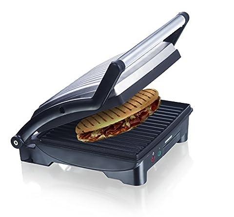 Melissa 3in1 Panini Maker, Kontakt-Grill, Sandwich Toaster Edelstahl Tischgrill mit