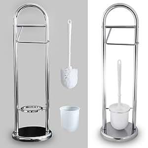 ensemble porte rouleau papier toilette et support brosse w c bricolage. Black Bedroom Furniture Sets. Home Design Ideas