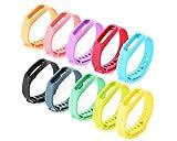 DSstyles Ersatz Bands für Go-tcha / Xiaomi Mi 1S Armband 10 Stücke Fitness Tracker Straps Smart Armbänder