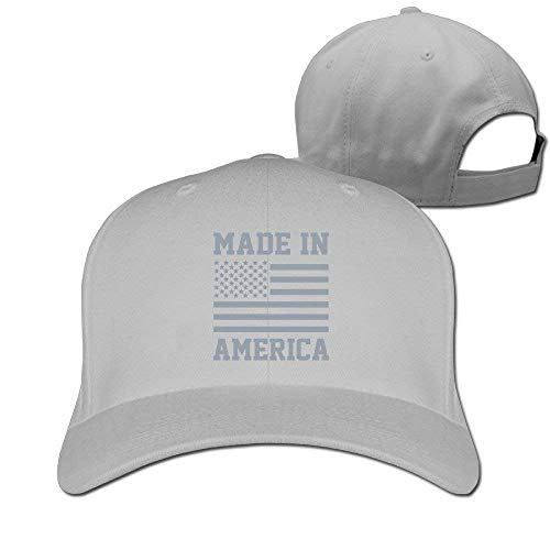 Unisex Made in America USA Military Pride Merica Flag Plain Baseball Cap Blank Hat Solid Color