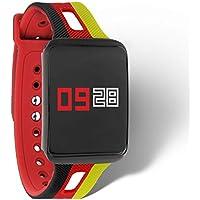 KETO Fitness Tracker Damen und Herren - Armband mit Pulsmesser - Smartwatch Blutdruck - Smartwatch Schwimmen - Sportuhr Dark Fire