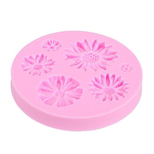 BQLZR Flexible DIY 3d flores con forma de silicona para tartas Fondant Chocolate Cookies decoración de Candy-Molde para hacer molde