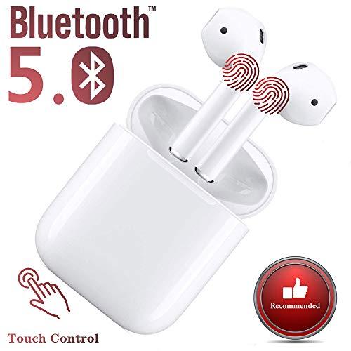 Auricolari Bluetooth 5.0Auricolari wireless Nuovi auricolari in alta fedeltà 3D Stereo con microfono incorporato e chiamata portatile per compatibile Apple Airpods Android/Iphone 11