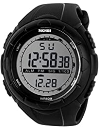 Naivo Men's Swiss Automatic Stainless Steel and Rubber, Color Black (Model: WATCH-1164)