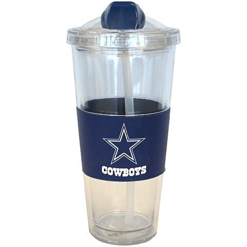 Dallas Cowboys No Spill Tumbler with Straw 22 oz.