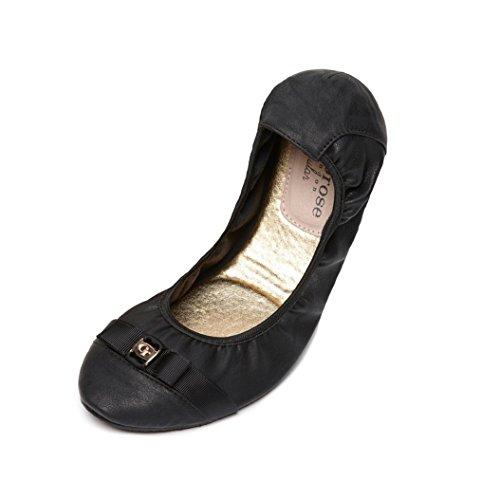Cocorose London Scarpe Pieghevoli - Wandsworth Scarpe da Ballet Donna Nero