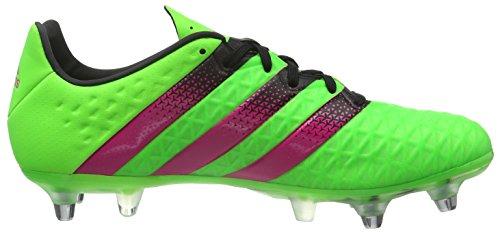 adidas Ace 16.2 Sg, Chaussures de Football Homme, Mehrfarbig Grün (Solar Green/Shock Pink/Core Black)