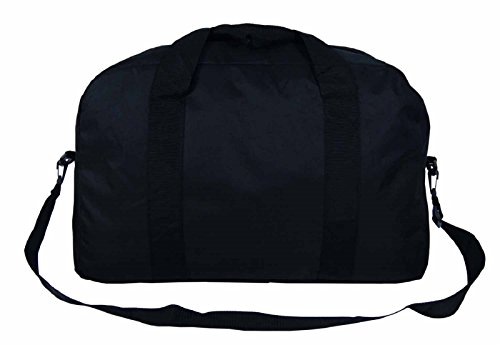 Outdoor-Gear-Foldaway-Black-Cabin-Bag-Hand-Luggage-Travel-Holdall-Lightweight-55-x-36-x20-cm