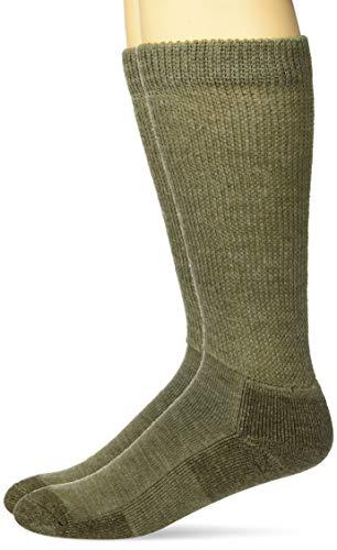 Carolina Ultimate Herren Non-Binding Merino Wool Blend Crew 2 Pair Pack Legere Socken, khaki, Large -