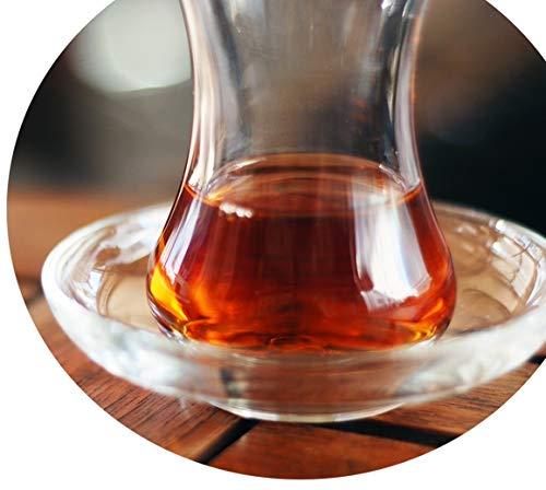 Topkapi-Set de 6Posavasos de té para Vasos de té Turco té Cristal Zeynep Redonda, diámetro de 10,2cm, 6Unidades