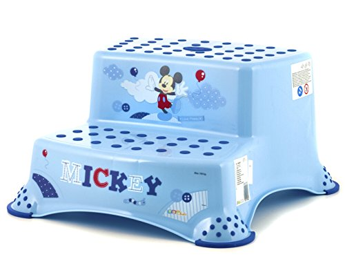Plastimyr Mickey - Taburete con doble escalón, color azul