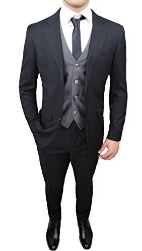 Abito completo uomo sartoriale nero grigio elegante