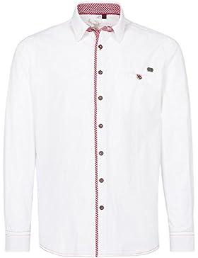 Michaelax-Fashion-Trade Spieth & Wensky - Herren Trachten Hemd, Normal-Fit, Langarm in Weiß, Golo (300940-1294)