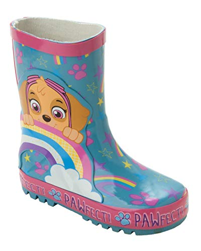 Girls PAW Patrol Skye Rubber Wellies Wellington RAIN Snow Boots Nickelodeon Kids Size 5 6 7 8 9 10 Infant