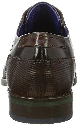 Bugatti 312164031111, Derby Uomo Marrone (Dark Brown / Dark Blue)