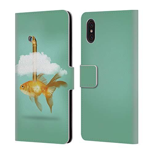 fizielle Vin Zzep Periskop Goldfisch Fisch Brieftasche Handyhülle aus Leder für Xiaomi Mi 8 Pro ()