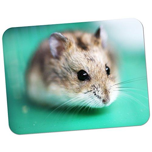 Hamster auf Grün Hochwertiges dickes Gummi-Mauspad mit weicher Komfort-Oberfläche (Grüne Hamster)